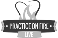 Practice on Fire logo