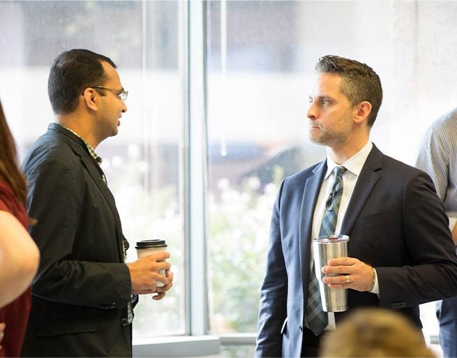 2 men conversation